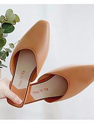 cheap -Women's Flats Flat Heel Closed Toe PU Spring &  Fall / Summer Khaki / Green / White
