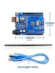 cheap -UNO R3 Atmega328P CH340G Development Board with USB Cable Pin Header