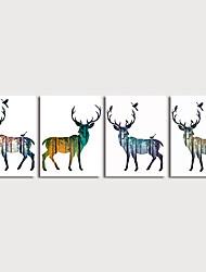 Недорогие -печать на холсте картина современный дорогой набор из 4 картин, выполненных в современном стиле, со стетчером