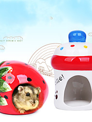 cheap -Small Animal House Ceramic Hamster Hideout Small Animal Nest Habitat for Hamsters Gerbils Rats