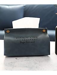 cheap -PU leather tissue box home living room tissue storage box