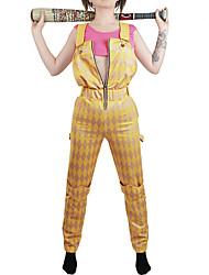 cheap -Harley Quinn Joker Outfits Women's Movie Cosplay Cosplay Golden Christmas Halloween Carnival Terylene / Sleeveless