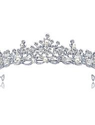 cheap -Alloy Tiaras with Faux Pearl / Crystal / Rhinestone 1 Piece Wedding Headpiece