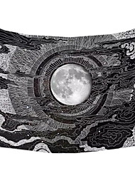 cheap -Accnicc Moon and Star Tapestry Wall Hanging Tapestries Black & White Wall Blanket Wall Art for Living Room Bedroom Home Decor