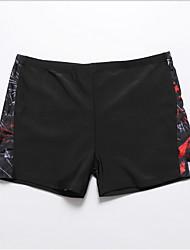 cheap -Men's Black Bottoms Swimwear Swimsuit - Color Block One-Size Black