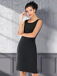 cheap -Women's Sheath Dress - Solid Color Sequins Tassel Fringe Black S M L XL