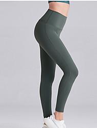cheap -Women's Sporty Sweatpants Pants - Solid Colored Black Light Brown Blue S M L
