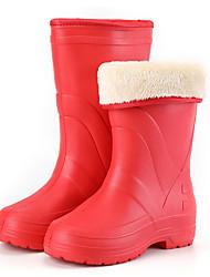 cheap -Women's Boots Flat Heel Round Toe PVC Mid-Calf Boots Winter Purple / Red / Burgundy