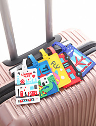 cheap -Mr and Mrs Luggage Tag Personalized Custom Made Unique Luggage Accessory Durable Convenient Leather Silica Gel 2pcs White Yellow Red Monogram Travel Accessory