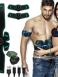 cheap -Abs Stimulator Abdominal Toning Belt EMS Abs Trainer Sports Silicon PU (Polyurethane) ABS Resin Gym Workout Exercise & Fitness Smart Electronic Muscle Toner Muscle Toning Tummy Fat Burner For Men