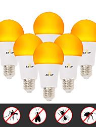 Недорогие -EXUP® 6шт 6 W Круглые LED лампы 500 lm E26 / E27 A60(A19) 14 Светодиодные бусины SMD 2835 Творчество Новый дизайн Для вечеринок Желтый 220-240 V