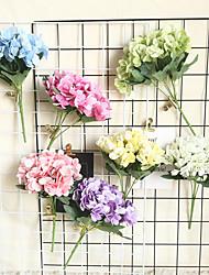 cheap -1pcs Hydrangea Artificial Flower Plant INS Wedding Decoration