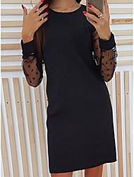 cheap -Women's Sheath Dress - Polka Dot Black Wine Blushing Pink S M L XL
