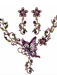 cheap -Women's Jewelry Set Butterfly Luxury Elegant Vintage Earrings Jewelry Purple For Party Evening Gift Formal Engagement Beach 1 set