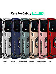 cheap -Case For Samsung scene map Samsung Galaxy S20 S20 Plus S20 Ultra Military anti-fall series invisible ring stand PC TPU 2-in-1 armor anti-fall phone case