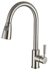 cheap -Kitchen faucet - Single Handle One Hole Electroplated Pull-out / ­Pull-down Centerset Contemporary Kitchen Taps