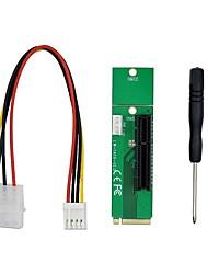 cheap -M.2 NGFF to Desktop PCIe x4 x8 x16 NVMe SATA Dual SSD PCI Express Adapter