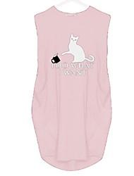 cheap -Women's A Line Dress - Animal Black Wine Blushing Pink S M L XL