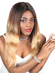 cheap -Remy Human Hair Unprocessed Virgin Hair Lace Front Wig Free Part style Brazilian Hair Peruvian Hair Wavy Light Brown Wig 180% Density Best Quality Hot Sale 100% Virgin Comfy Coloring Women's Long