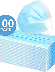 cheap -In Stock 100PCS 3-layer Disposable Masks Safe Breathable Mouth CE Certified Face Mask Disposable Ear loop Face for Personal Protection+Free Shipping for 4 boxes (50 pieces per box)