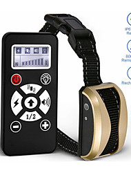 cheap -Pet Dog Training Collar Remote Control Waterproof Rechargeable LCD Shock Vibration Sound Collar 181
