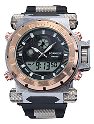 cheap -Men's Sport Watch Automatic self-winding Outdoor Water Resistant / Waterproof Analog - Digital White Black Gold / One Year / Silicone / Japanese / Calendar / date / day / Chronograph
