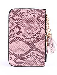 cheap -Unisex Zipper PU Coin Purse Solid Color Black / Dark Brown / Blushing Pink