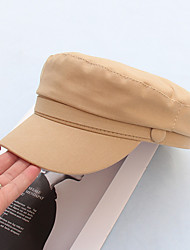 cheap -Women's Men's Beret Hat Sun Hat Cotton Active Basic Cute - Solid Colored All Seasons Black Yellow Khaki