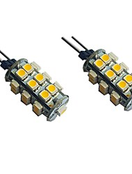 cheap -2pcs 1.5 W LED Bi-pin Lights 120 lm G4 25 LED Beads SMD 3528 Decorative Warm White White 12 V