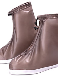 cheap -Women's Boots Flat Heel Round Toe PVC Booties / Ankle Boots Fall & Winter White / Blue / Pink