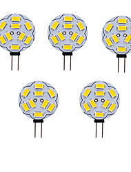 cheap -5pcs 1 W LED Bi-pin Lights 180 lm G4 T 9 LED Beads SMD 5730 Warm White Cold White