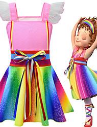 cheap -Fancy Nancy Dress Cosplay Costume Girls' Movie Cosplay Cosplay Costume Party Vacation Dress Pink Dress Polyster