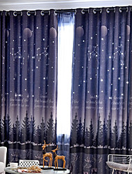 cheap -Gyrohome 1PC Hollow Out Night Sky Shading High Blackout Curtain Drape Window Home Balcony Dec Children Door *Customizable* Living Room Bedroom Dining Room