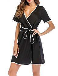 cheap -Women's Chemises & Gowns Nightwear Black S XL