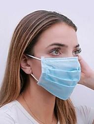 Недорогие -100 pcs Лицевая маска Защита 3 слоя В наличии Ткань выдувной фильтр CE Сертификация Высокое качество Универсальные Синий