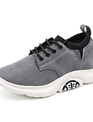 cheap -Men's Patent Leather / Tissage Volant Fall / Spring & Summer Sporty / Casual Athletic Shoes Running Shoes / Walking Shoes Breathable Khaki / Black / Gray