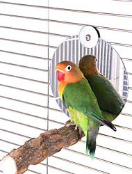 cheap -Bird Mirror with Perch5 inch Stainless Steel Parrot Mirror Toys for Greys Amazons Parakeet Cockatiel Conure Lovebirds Finch Canaries