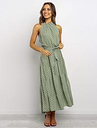 cheap -Women's Swing Dress - Polka Dot Black White Red S M L XL