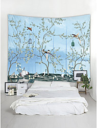 cheap -Wall Tapestry Art Decor Blanket Curtain Picnic Tablecloth Hanging Home Bedroom Living Room Dorm Decoration Chinese Ink Painting Bird Animal Floral Plants Flower Blossom