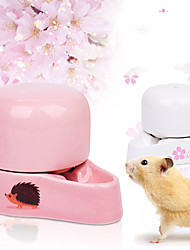 cheap -Small Animal Water Bottle Automatic Ceramic Drinking Bottle Silent Little Pet Water Feeder for Bird/Hedgehog/Hamster/Small Animal