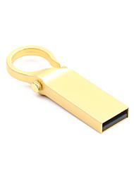Недорогие -litbest круглая кнопка золотой металлический брелок 16 ГБ флэш-накопители USB 2.0 креатив для автомобиля