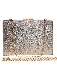 cheap -Women's Sequin / Chain Polyester / Alloy Evening Bag Solid Color Black / Gold / Silver