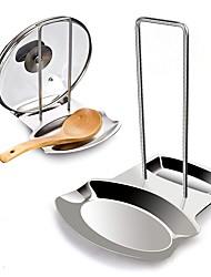 Недорогие -крышка из нержавеющей стали и подставка для ложки держатель крышки держатель для ложки крышка крышки подставки для посуды полка кухонная посуда держатели в серебре