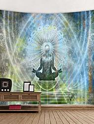 cheap -Indian Buddha Statue Meditation Tapestry Wall Hanging Mandala Tapestries Wall Cloth Psychedelic Yoga Carpet Boho Decor