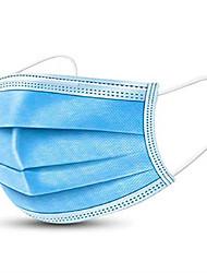 Недорогие -50 pcs Disposable Маска Лицевая маска 3 слоя В наличии Ткань выдувной фильтр CE Сертификация Муж. Синий