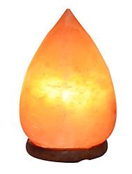 Недорогие -Гималайский кристалл соль лампы в форме капли анион настольная лампа ночник теплый белый 1 шт.