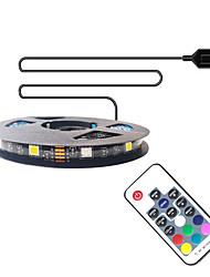 cheap -1m Flexible LED Light Strips RGB Tiktok Lights TV Background Lights 30 LEDs SMD5050 10mm 1 17Keys Remote Controller 1 set Multi Color Waterproof USB Self-adhesive 5 V