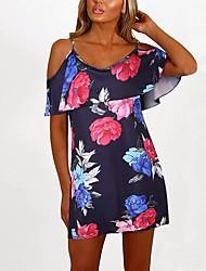 cheap -Women's White Black Dress A Line Sheath Geometric S M