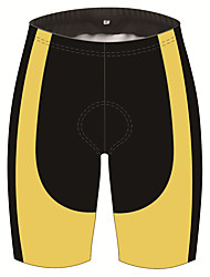 cheap -21Grams Men's Cycling Shorts Bike Shorts Padded Shorts / Chamois Pants Breathable 3D Pad Quick Dry Sports Black / Yellow Mountain Bike MTB Road Bike Cycling Clothing Apparel Bike Wear / Stretchy