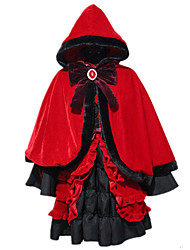 cheap -Inspired by K Kushina Anna Anime Cosplay Costumes Japanese Cosplay Suits Table Skirt Hair Jewelry Dress For Women's / Shawl / Cap